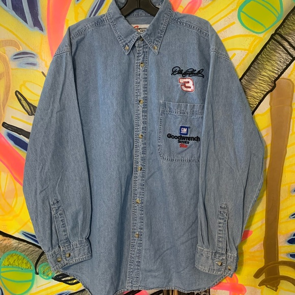 Chase Authentics Other - Vintage Chase Competitor's Dale Earnhardt Denim L